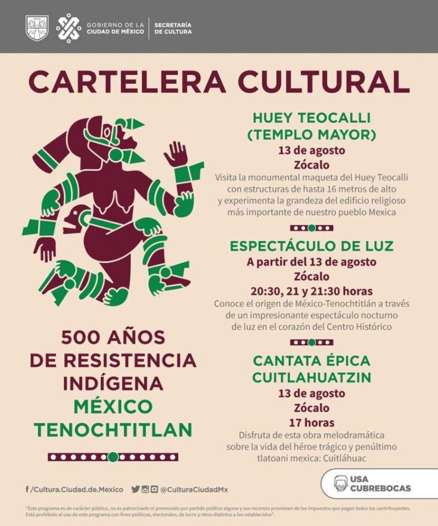 Cartelera Cultural 500 años de resistencia indígena
