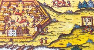 Fortificación de Buenos Aires en un grabado de Ulrico Schmidl del siglo XV