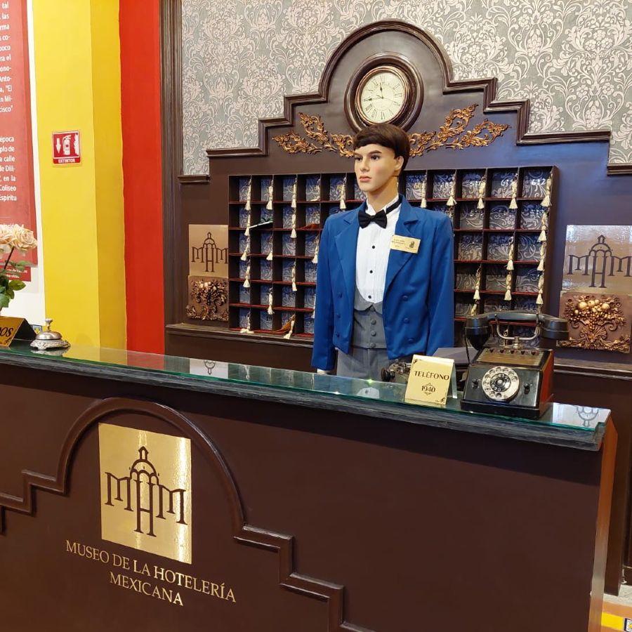 Front desk en el Museo de la Hotelería Mexicana