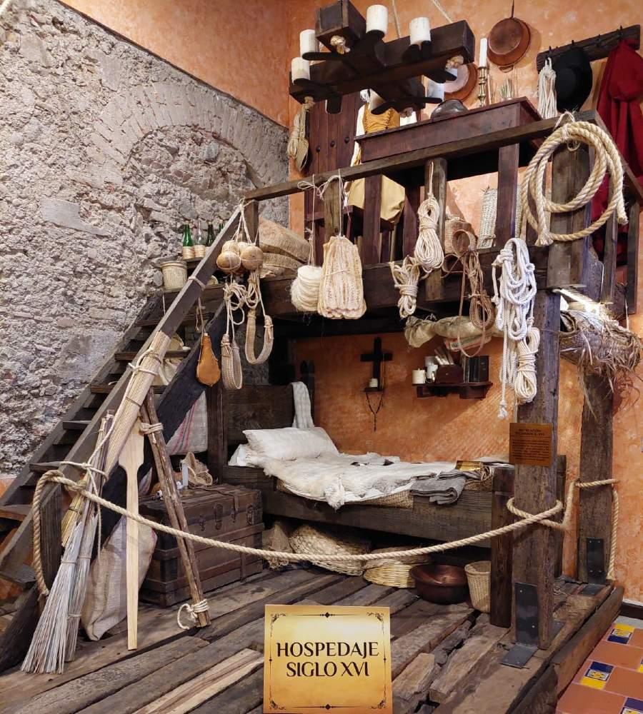 Hospedaje del siglo XVI en el Museo de la Hotelería Mexicana