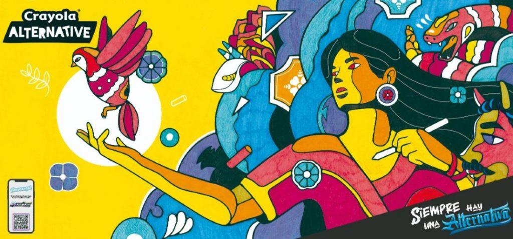 Ilustración Salvador Goa para Crayola Alternative