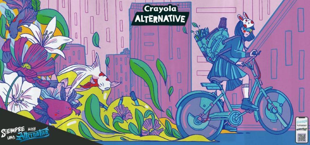 Ilustración Youko Horiuchi para Crayola Alternative