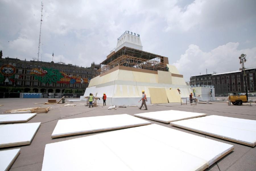 Instalación de la Maqueta Monumental del Templo Mayor 2