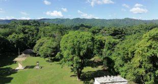 Vista panorámica de la zona arqueológica de Bonampak