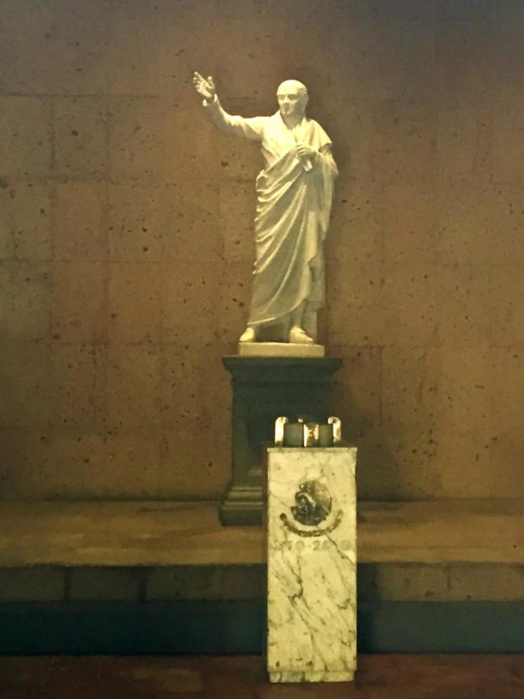Estatua del Cura Hidalgo en Atotonilco