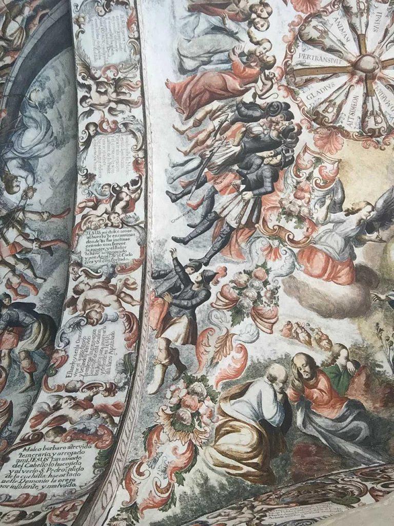 Frescos en el Santuario de Jesús Nazareno