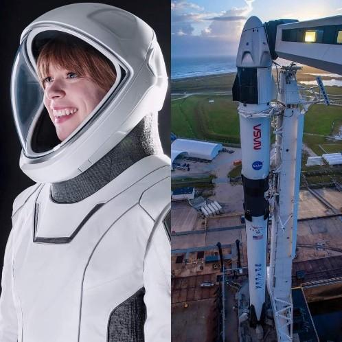 Nave SpaceX Crew Dragon y Turista Espacial