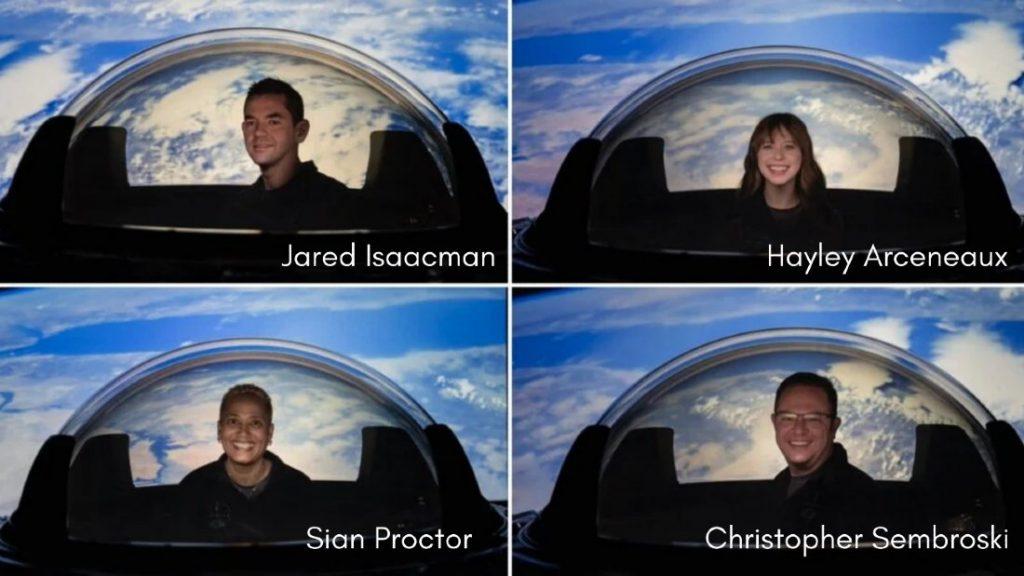 Turistas espaciales de Inspiration 4 de SpaceX