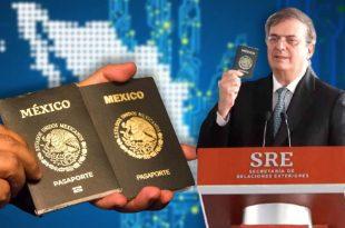 Marcelo Ebrard y el nuevo pasaporte electrónico mexicano