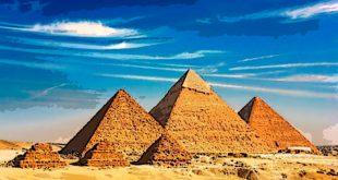 Piramides Giza caricatura