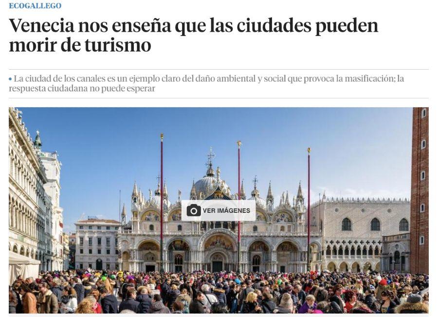 Venecia dice que turismo puede morir